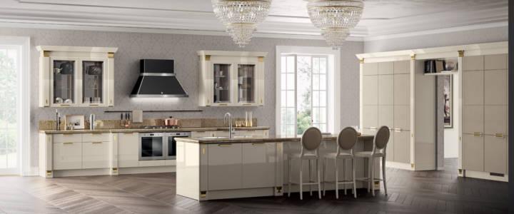 9358 Cucina-Exclusiva-Scavolini-laccato-lucido-panna-porcellana